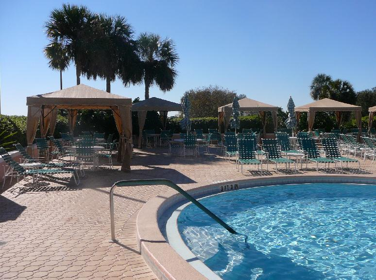 Cabanas near the Country Club pool at the Villages of Orange Blossom Gardens, The Villages, Florida 32159