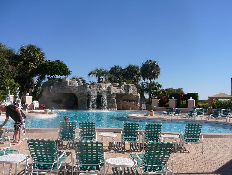 The Pool and Waterfall at Country Club of the Villages of Orange Blossom Gardens, The Villages, Florida 32159